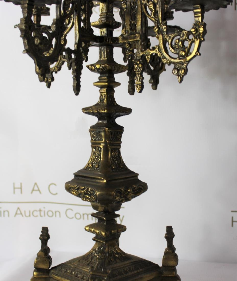 Pair of 19th C. French Gilt Bronze Candelabra - 4