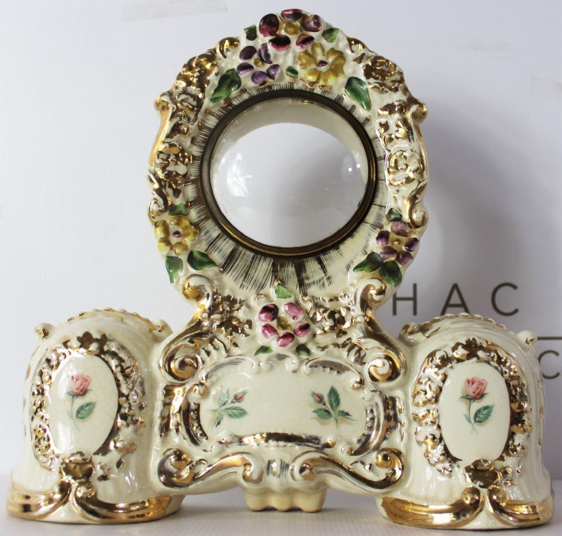 Antique Porcelain Clock Case