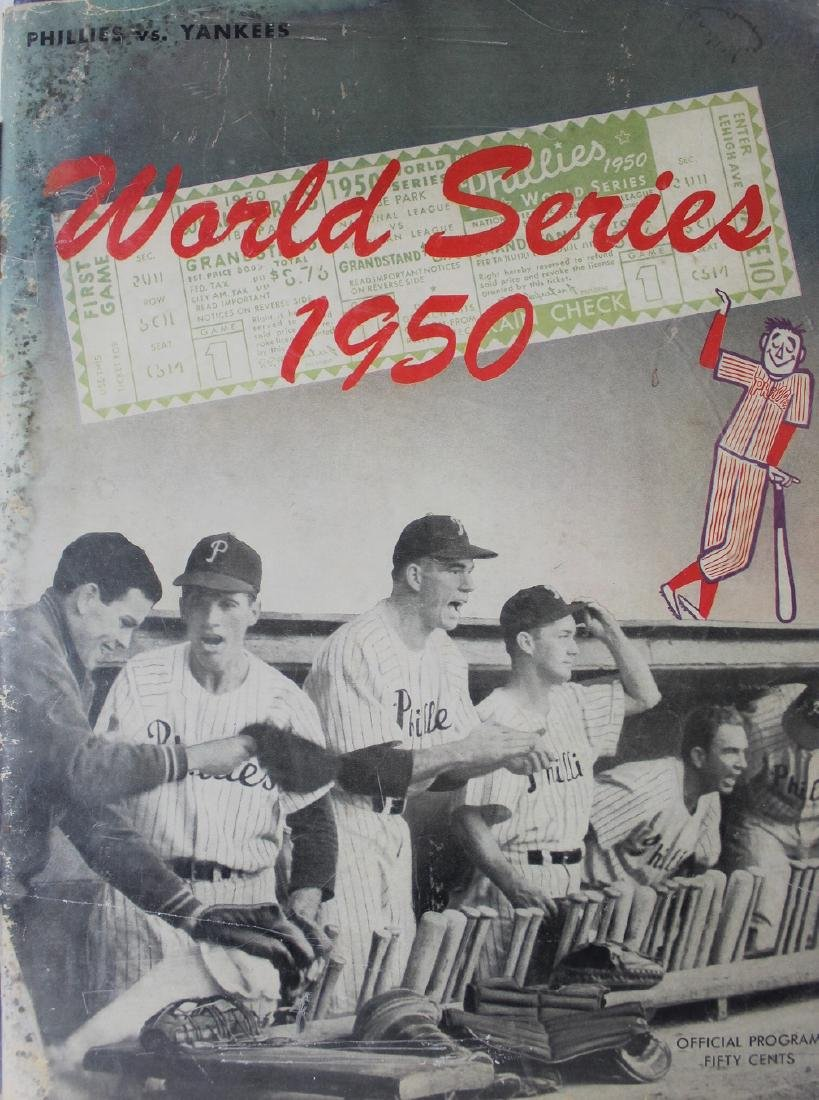 1950 World Series Game Program