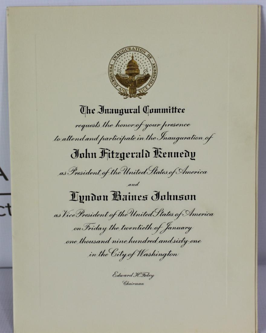 President John F. Kennedy Inauguration Invitation - 10