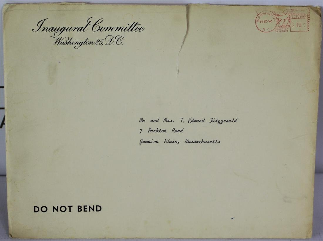 President John F. Kennedy Inauguration Invitation - 12