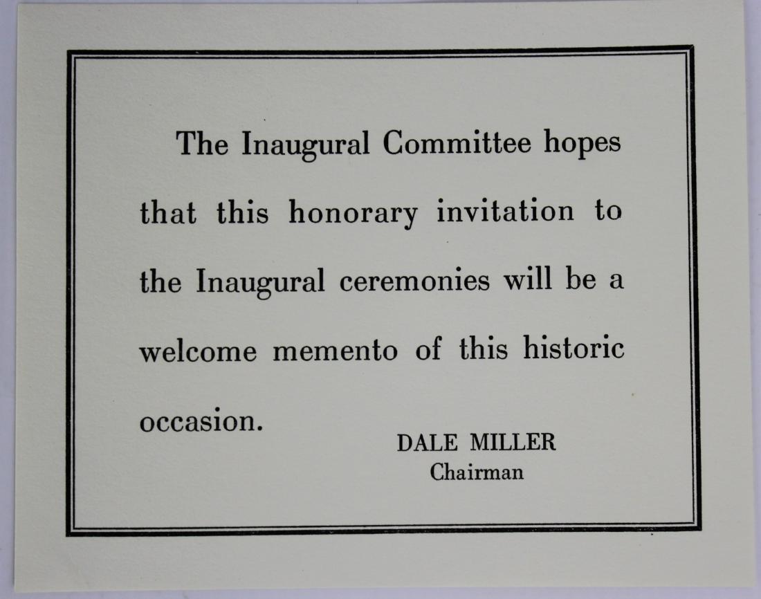 President John F. Kennedy Inauguration Invitation - 7