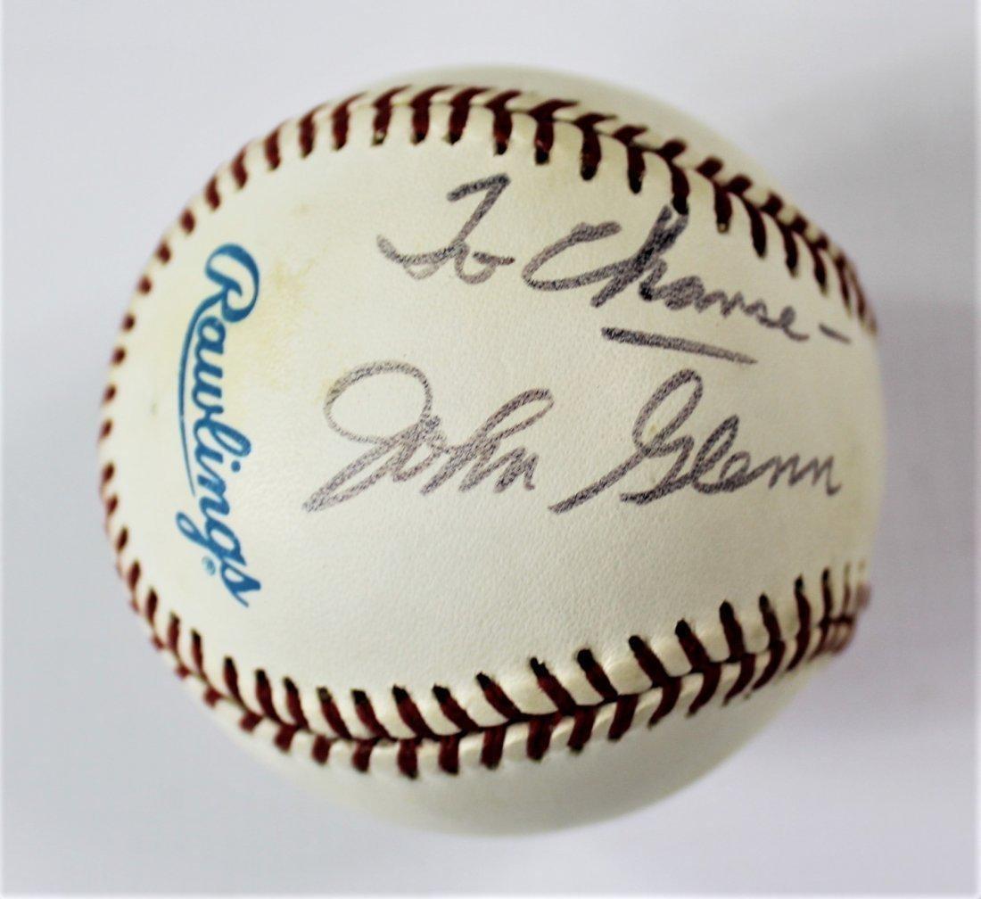 John Glenn Signed Baseball
