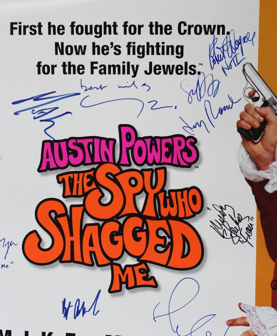 Austin Powers Cast Signed Poster - 2