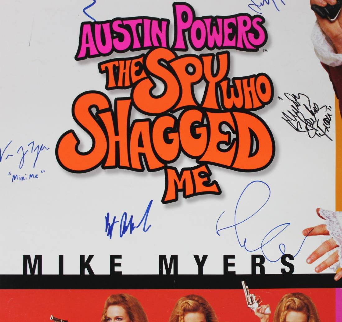 Austin Powers Cast Signed Poster - 4