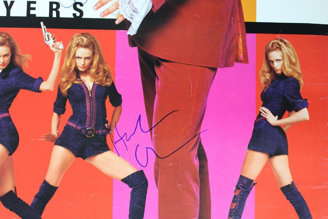 Austin Powers Cast Signed Poster - 5