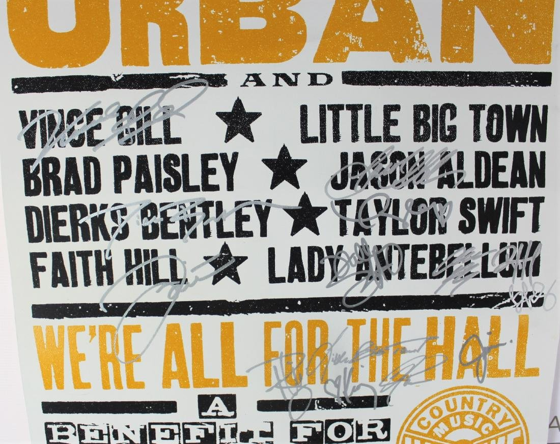 Country Singers Signed Poster - 9
