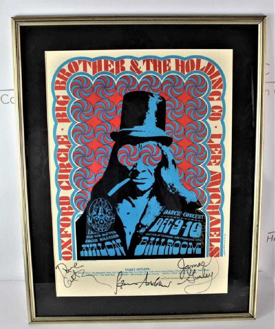 Big Brother and the Holding Company Signed Poster