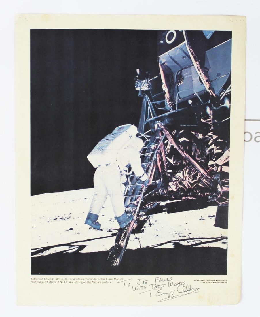Buzz Aldrin Signed NASA Lithograph