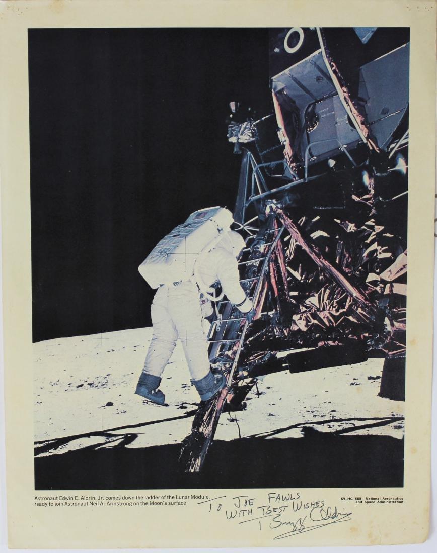 Buzz Aldrin Signed NASA Lithograph - 2