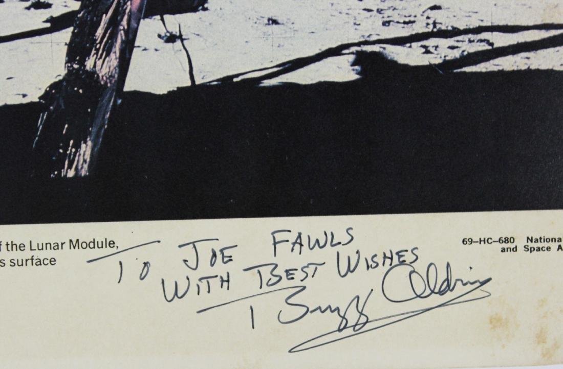 Buzz Aldrin Signed NASA Lithograph - 3
