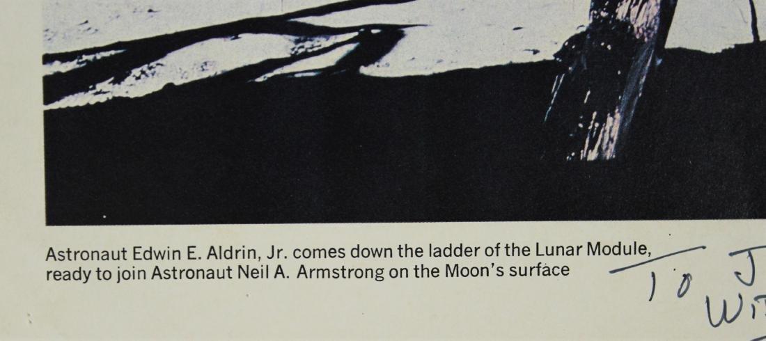 Buzz Aldrin Signed NASA Lithograph - 4
