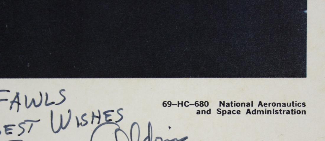 Buzz Aldrin Signed NASA Lithograph - 5