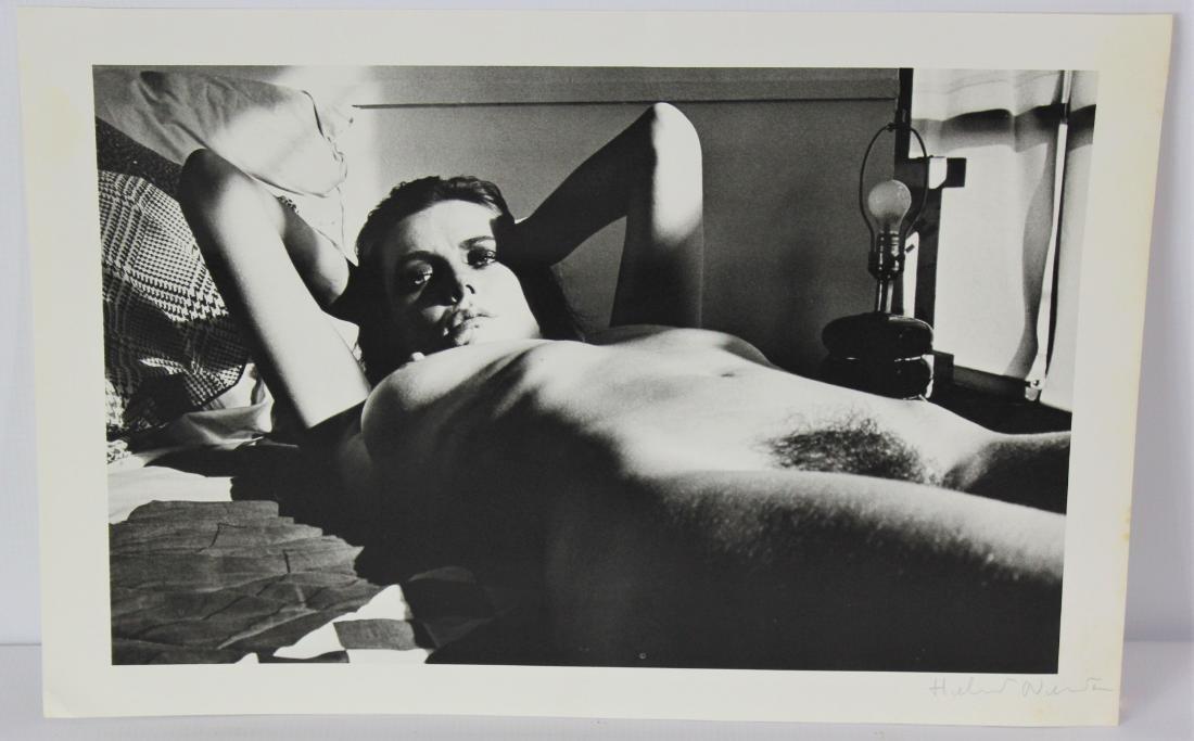 Helmut Newton Signed Photograph