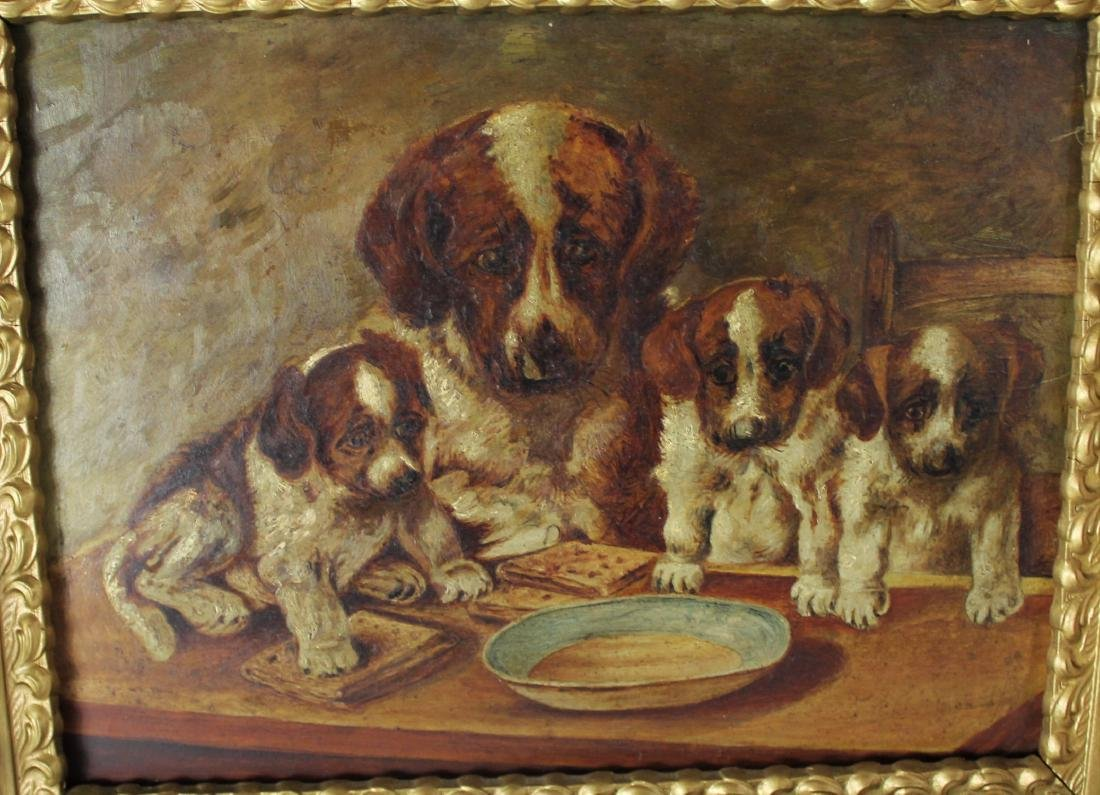 Antique British Painting of Dogs - 2
