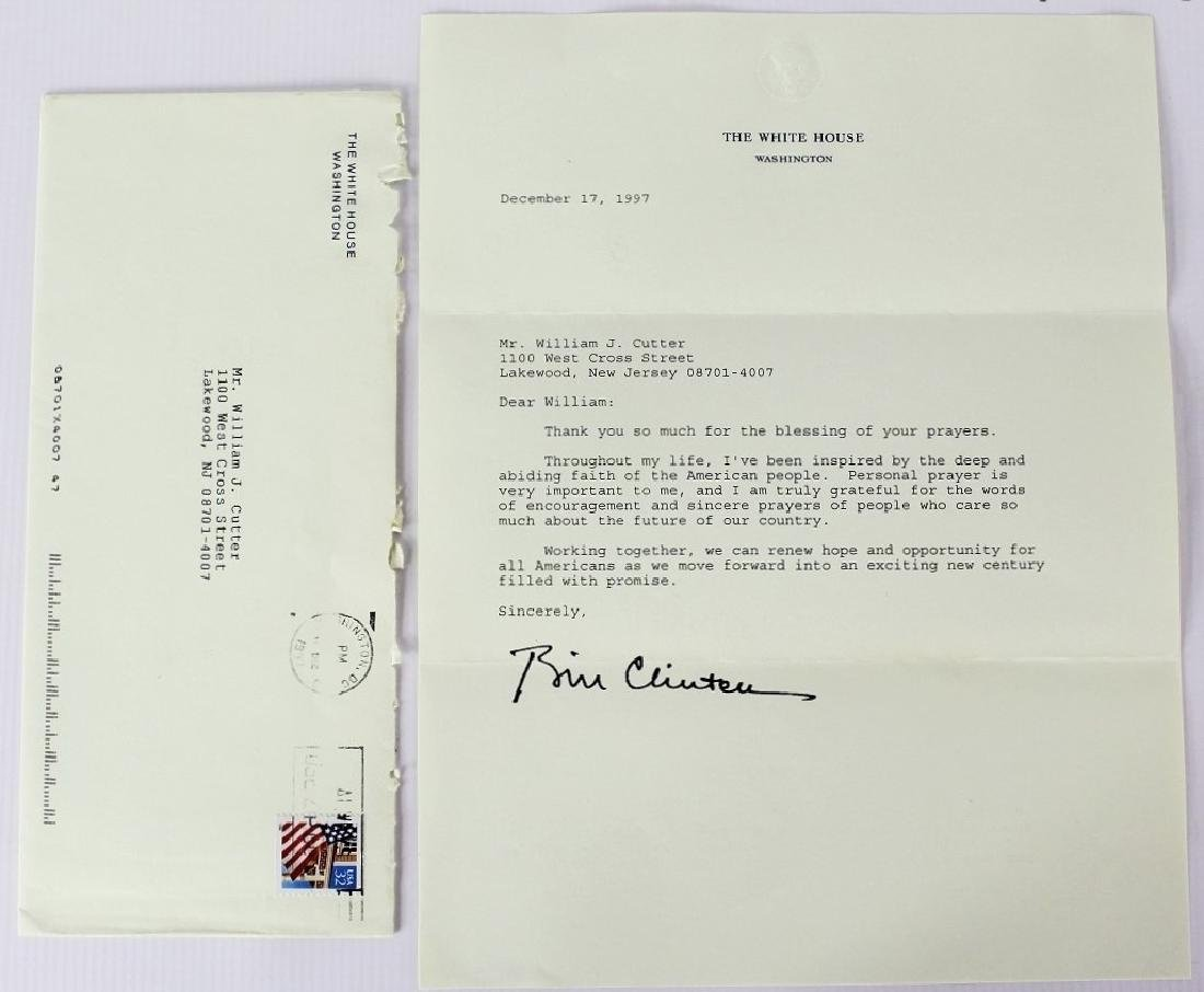 Letter Signed by President Bill Clinton