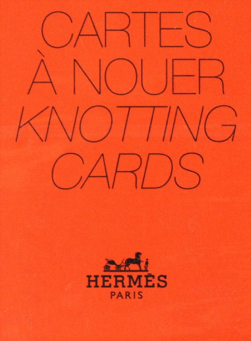 Hermes Scarf Knotting Cards - 2