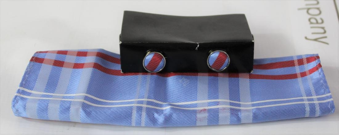Louis Vuitton Pocket Square and Cufflinks