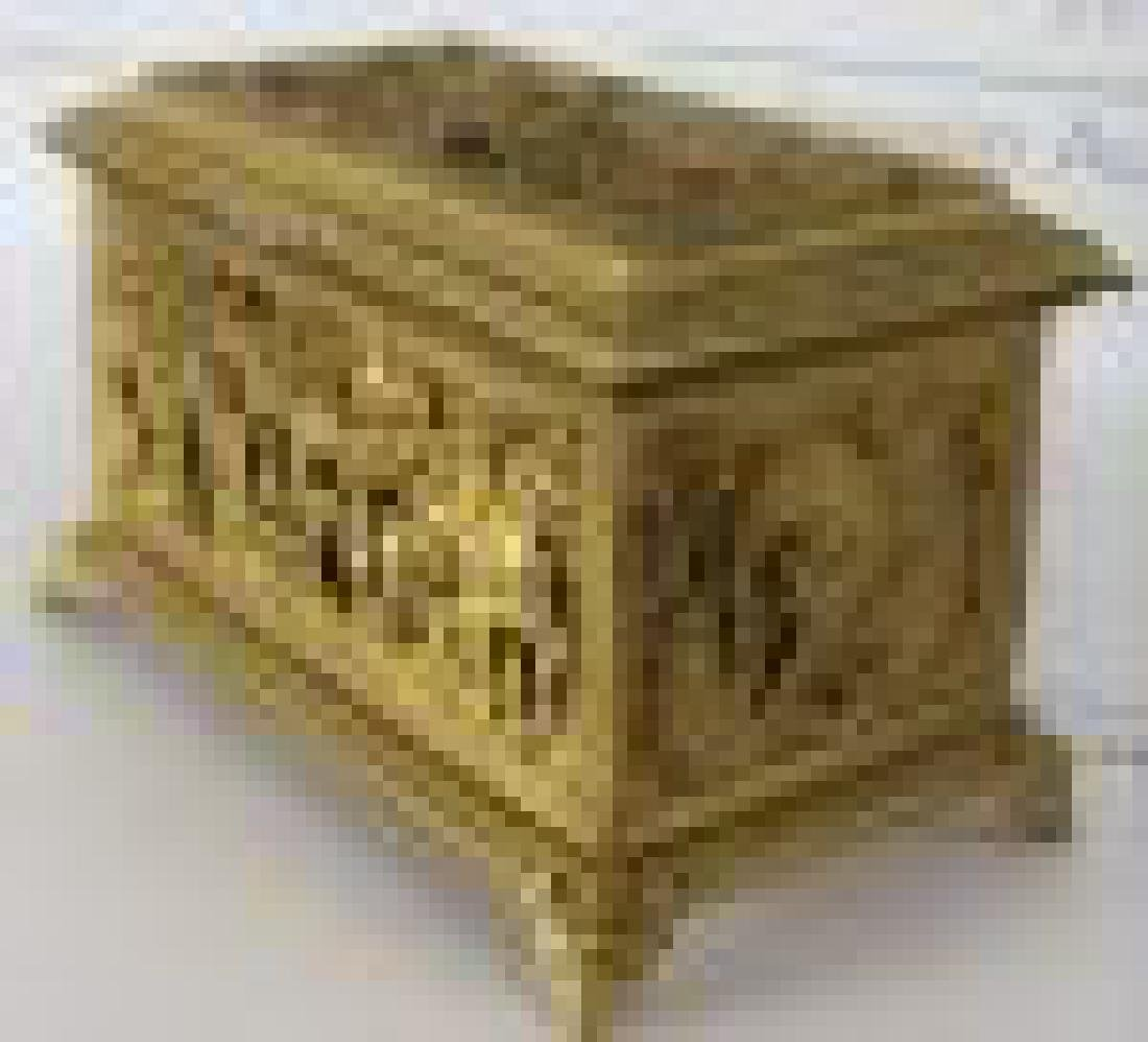 French Gilt Metal Jewelry Box - 3