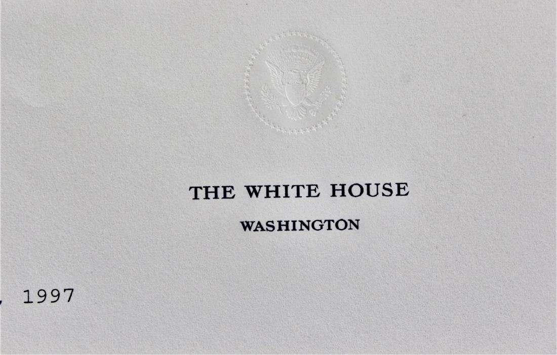 Letter Signed by President Bill Clinton - 4