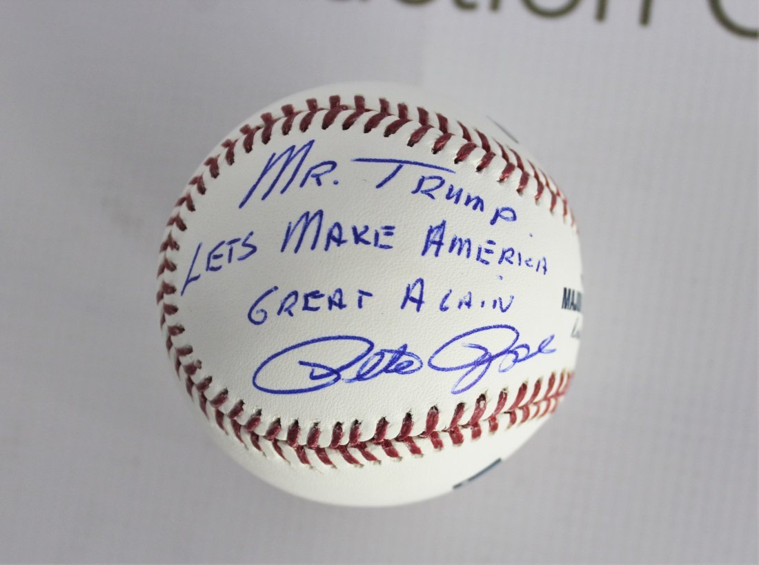 Baseball Signed by Pete Rose