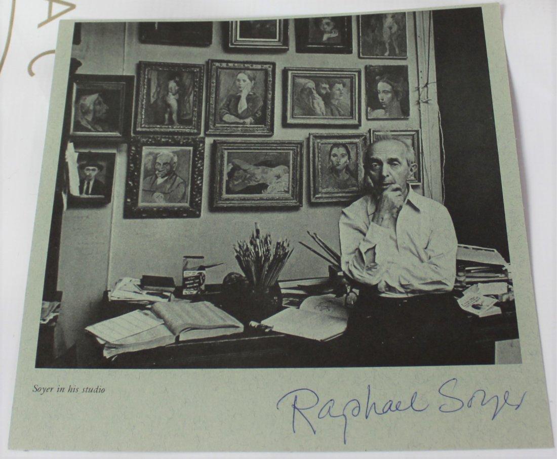 Raphael Soyer autograph