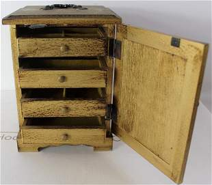 Italian Gilt Wood Jewelry Music Box
