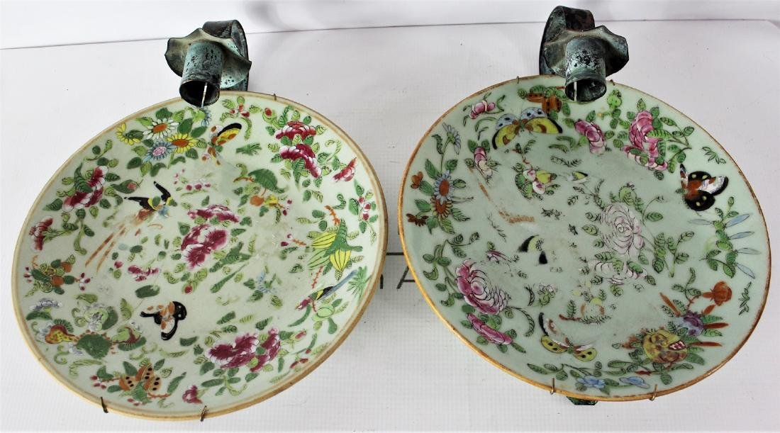 Qing Dynasty Floral Plates