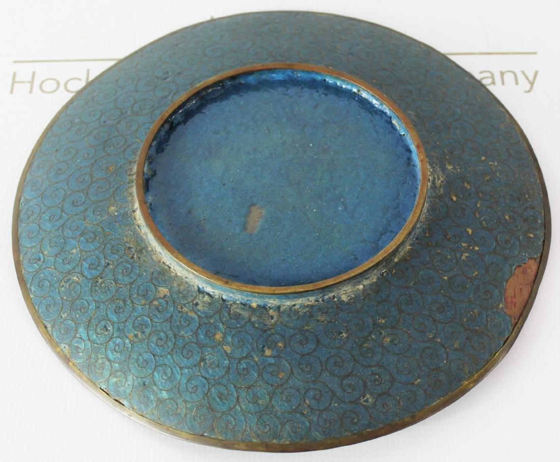 Japanese Cloisonne Enamel Plate - 4