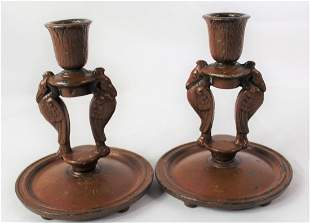 Maxfield Parrish Candle Holders