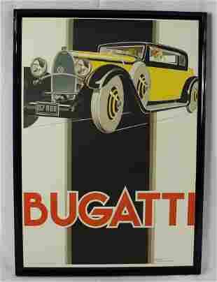 Rene Vincent Bugatti Poster