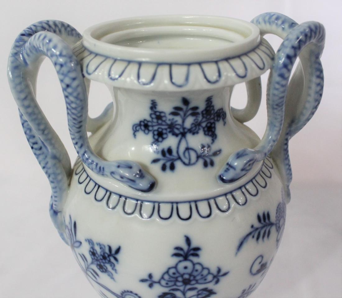 Dresden Snake Handle Vases - 5