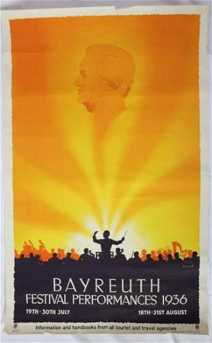 1936 Germany Music Festival Poster