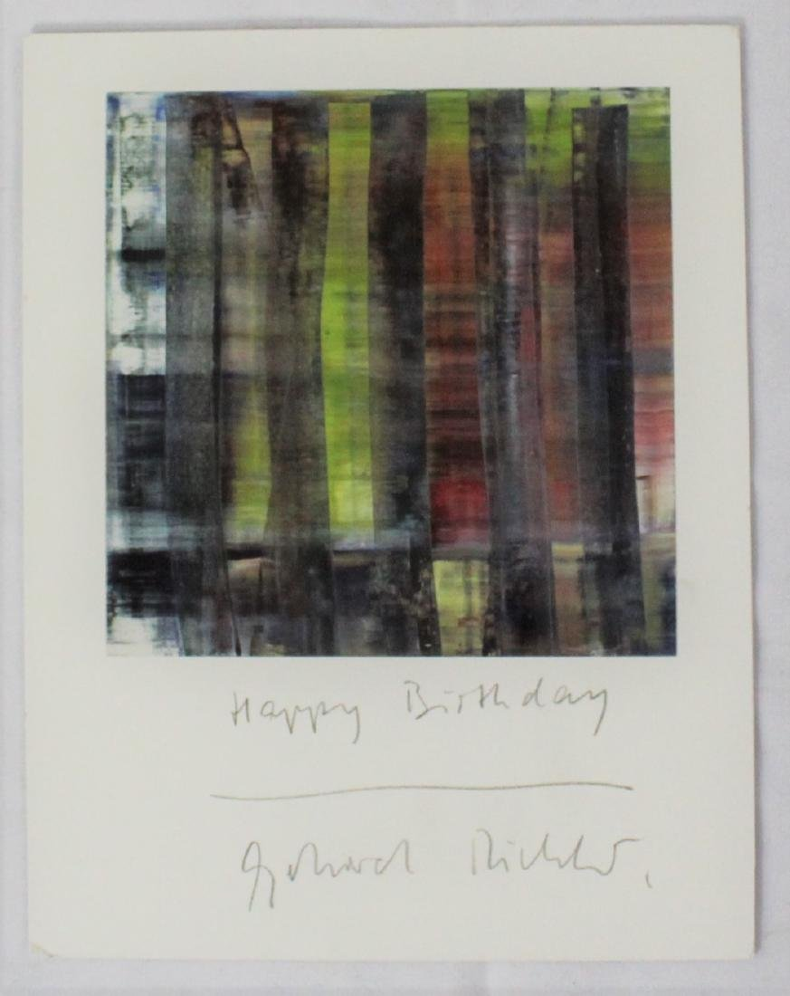 Gerhard Richter Signed Card