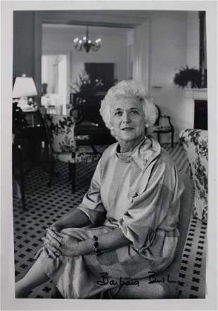 Barbara Bush Signed Photo