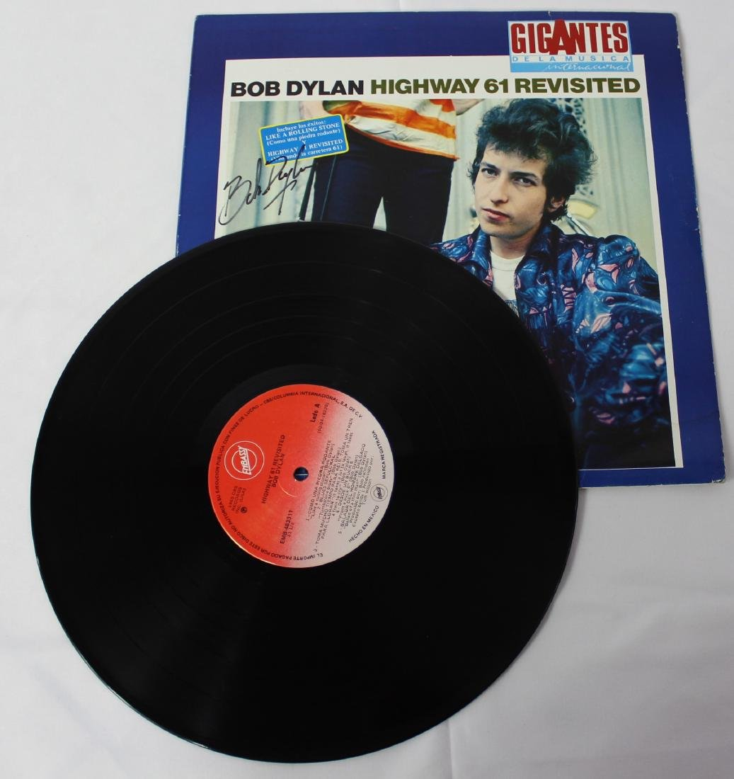 Bob Dylan Signed Record