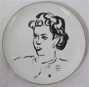 Leonard Tsuguharu Foujita Plate