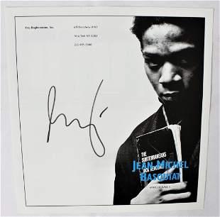 Jean Michel Basquiat Signed Gallery Advertisement