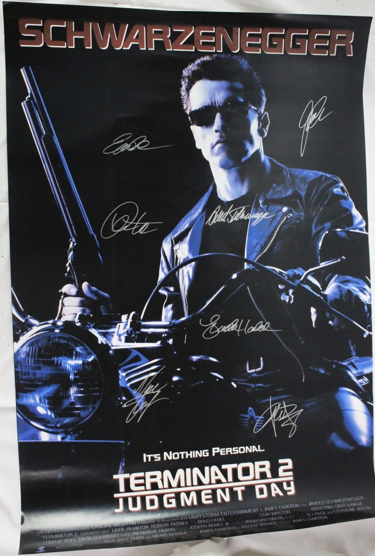 Terminator Signed Movie Poster