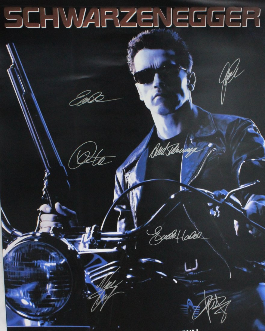 Terminator Signed Movie Poster - 2