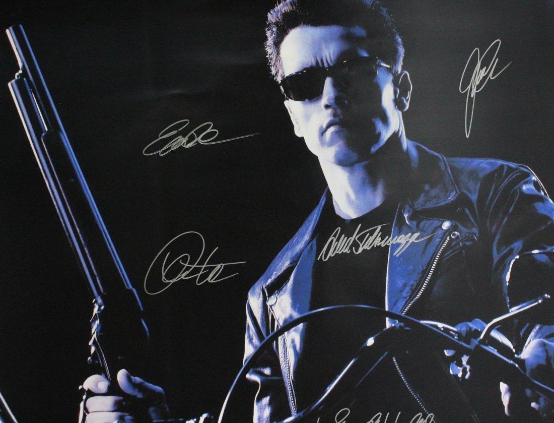 Terminator Signed Movie Poster - 3