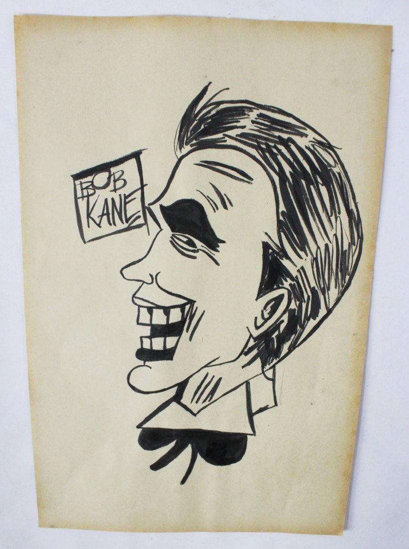 Bob Kane Signed Drawing