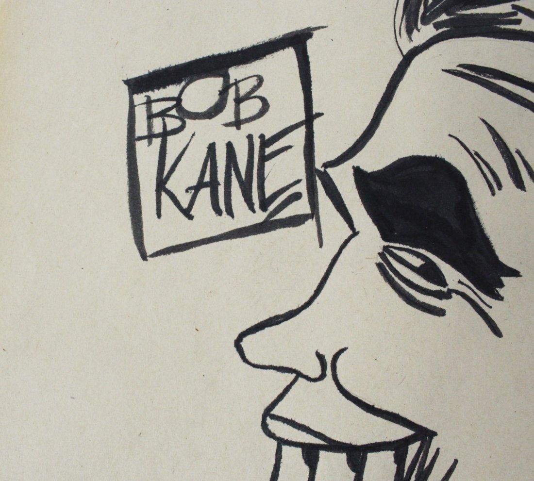 Bob Kane Signed Drawing - 2