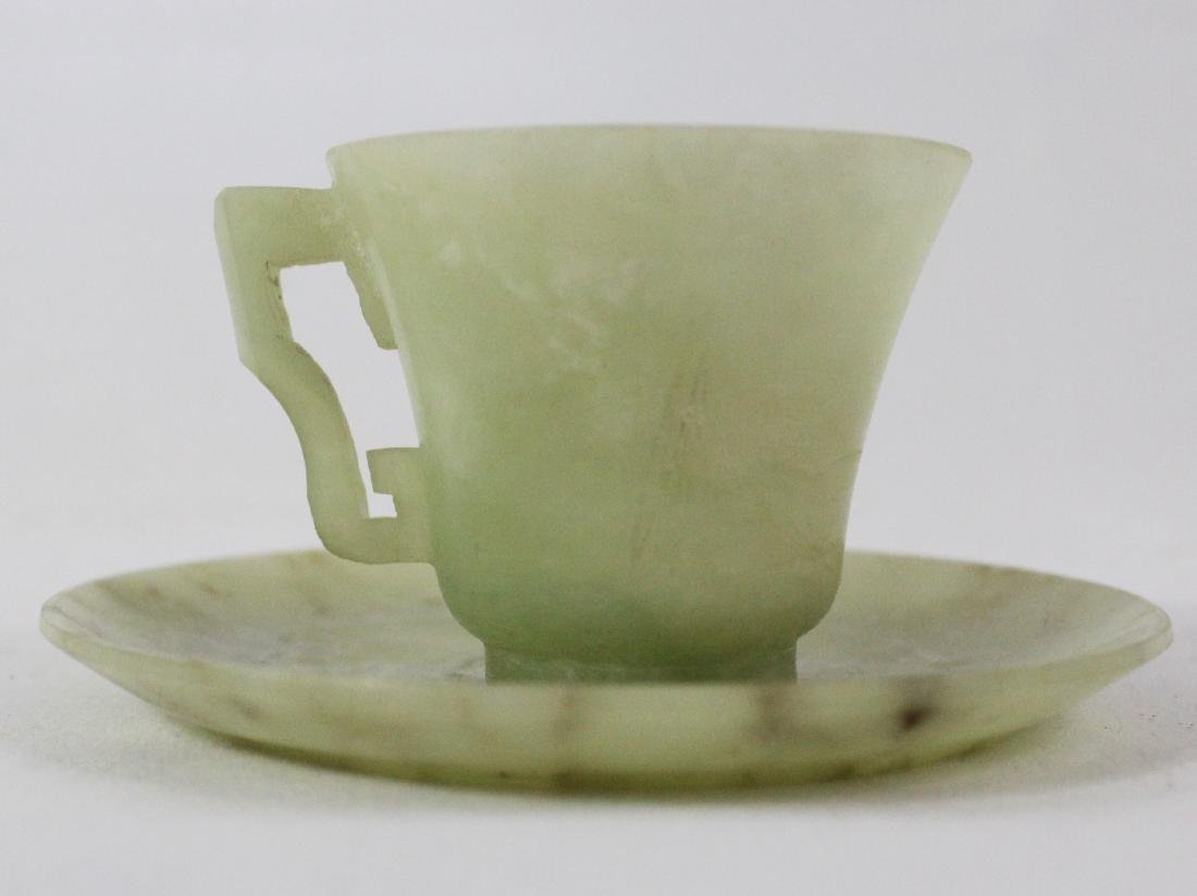 Chinese Jade Cup and Saucer
