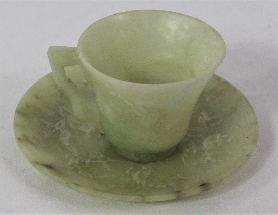Chinese Jade Cup and Saucer - 5