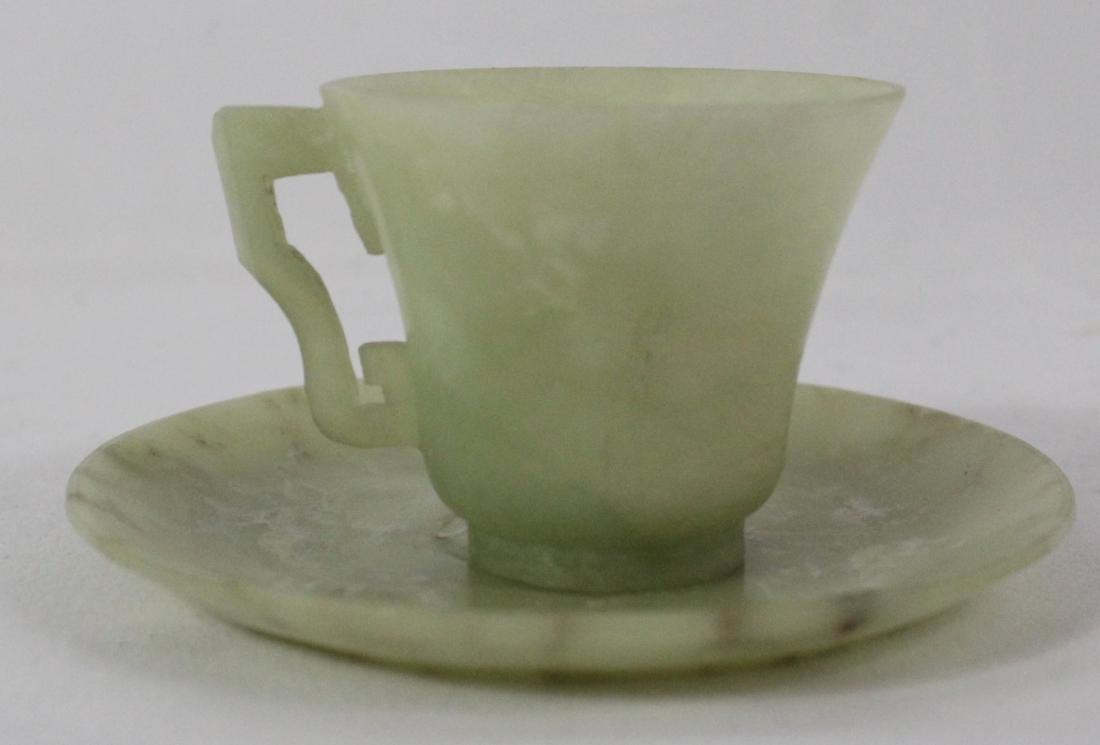 Chinese Jade Cup and Saucer - 6