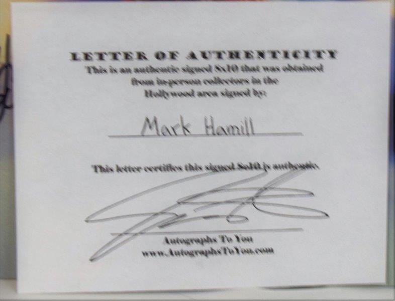 Mark Hamill Signed Photograph - 2