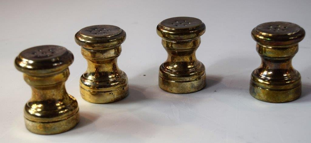 Sterling Silver Salt and Pepper Shakers - 3