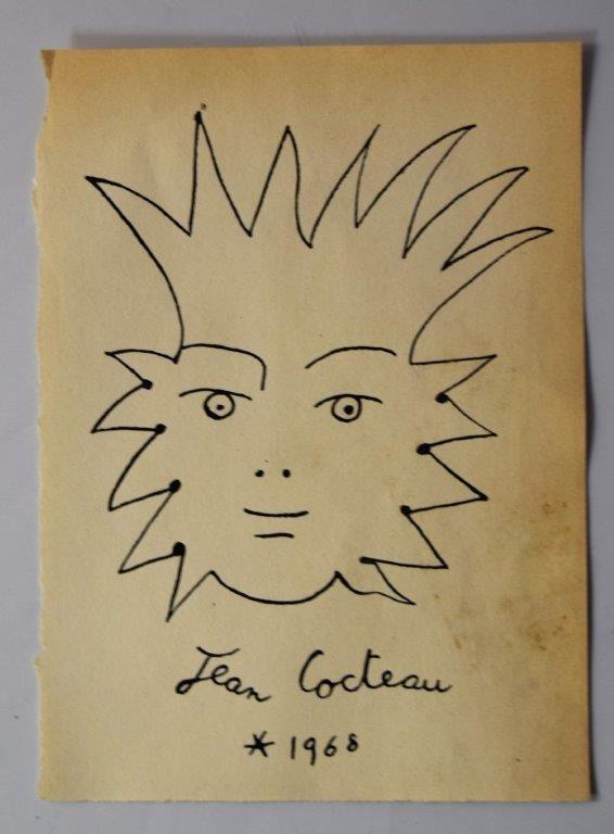 Jean Cocteau un amigo duerme