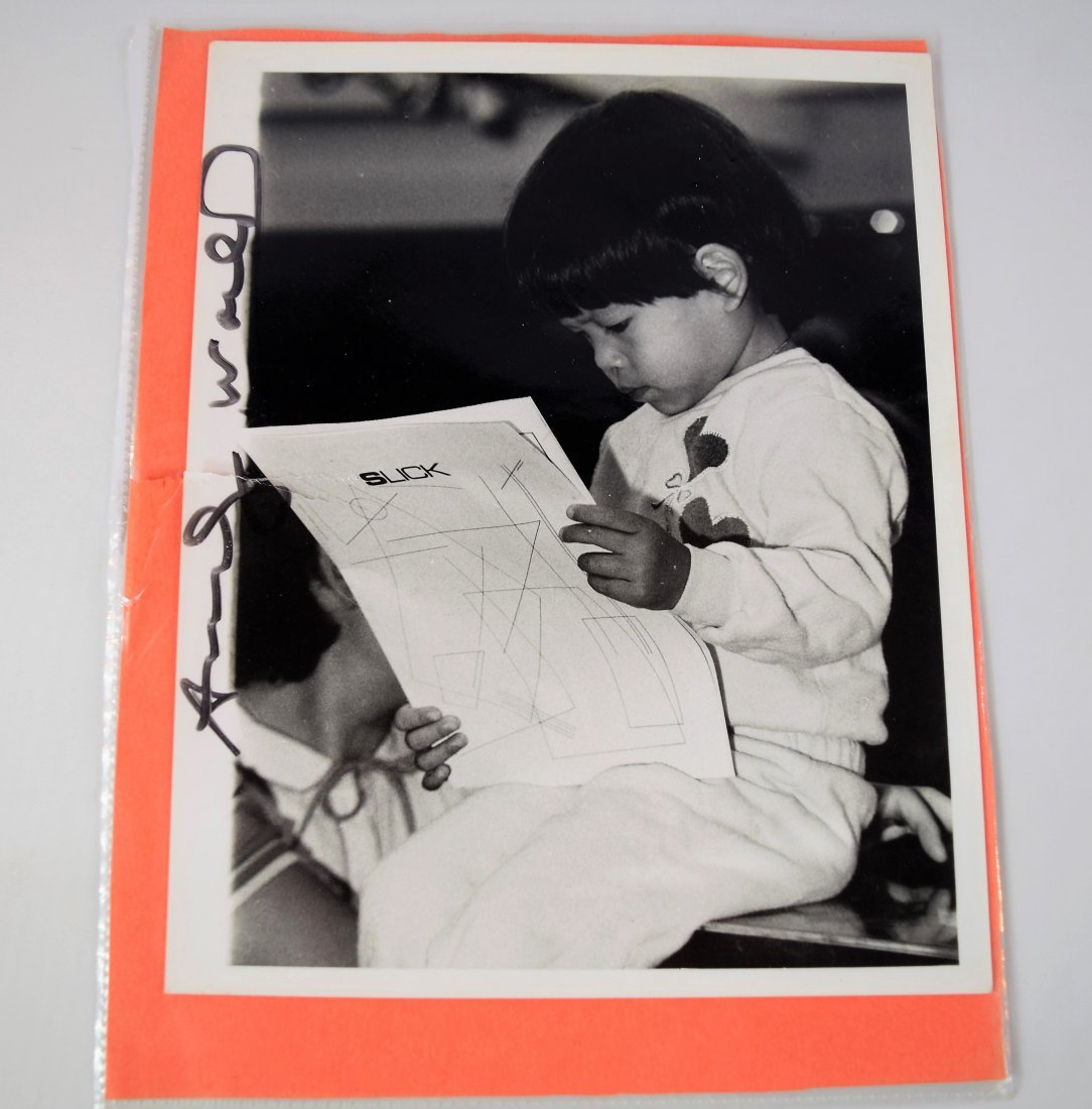 Photograph Signed by Artist Andy Warhol